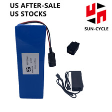 52V 48V 10AH EBIKE BATTERY Lithium Ion BMS 3A Charger Electric Scooter 350W 500W