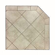"""NY Hearth White Lava 32"""" x 32"""" Tile Hearth Pad- Corner"""