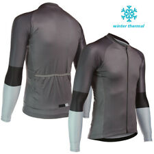 2019 Winter Cycling Fleece Jersey Men's Team Bicycle Race Thermal Jackets Outfit
