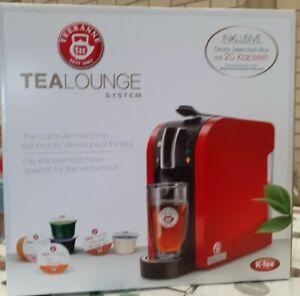 TEEKANNE Tealounge System Teemaschine Silber Teekapselmaschine inkl. Starter-Box