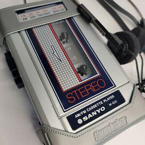 Vintage Sanyo Stereo AM/FM - Portable Cassette Player M-G31 -