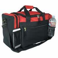 """Kids Size Duffle Duffel Bag Travel Gym Bag Carry-On Red Black Blue Gold Gray 17"""""""