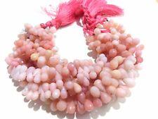 "Peruvian Pink Opal Teardrop Briolette 5x8-6x9mm, 2"" Strand Faceted Beads"