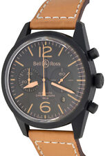 BELL & ROSS VINTAGE HERITAGE CHRONOGRAPH AUTOMATIC DATE BLACK PVD STAINLESS