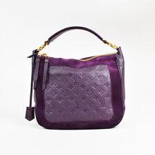 "Louis Vuitton Purple Monogram Empreinte Leather Suede Trim ""Audacieuse PM"" Bag"