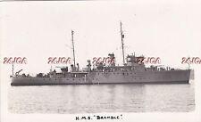"Royal Navy Real Photo RPPC. HMS ""Bramble"" Minesweeper. Sunk Barents Sea. 1939"