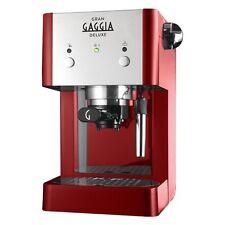 Gaggia DELUXE Rosso Macchina per Caffè Macinato/Cialde 15 bar 1,25 lt Pannarello