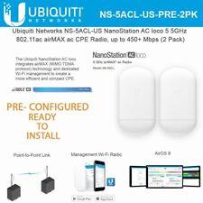 Ubiquiti NanoStation Loco5AC Preconfigured Point to Point Wireless Bridge Kit