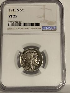 1915-S NGC VF25 BUFFALO NICKEL
