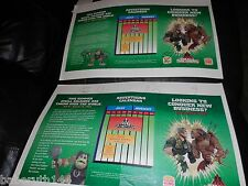 2 LOT PROOF SMALL SOLDIERS AD POSTERS BURGER KING FASTFOOD TOYS & LOGO CHANGES