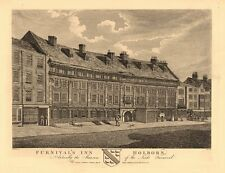 FURNIVALS INN. Lords Furnival Mansion. Inn of Chancery. Holborn, London 1834