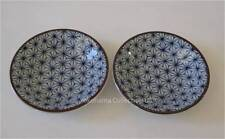 """2 PCS.Japanese 3.5""""D ASANOHA Sushi Soy Sauce Dipping Dishes/Make in Japan"""