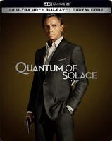 New Sealed 007 Quantum of Solace Steelbook 4K Ultra HD + Blu-ray + Digital Code