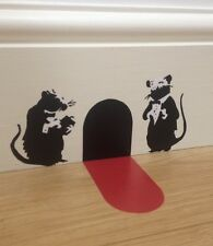 Banksy Waiter Rats Wall Art Sticker with Red Carpet Christmas Stocking Filler