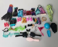 Monster High Doll Accessories Lot Clothes, Shoes, Brushes, Glasses Casta Fierce