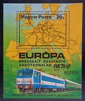 Hongrie, bloc n°141 dentelé neuf, train, exposition Iva'79 1979