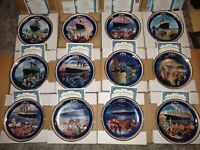 Bradford Exchange Set of 12 Titanic Queen of The Ocean Collector Plates