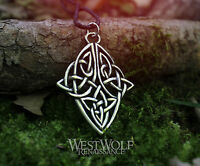 Celtic Diamond Knot Pendant -- Viking/Norse/Medieval/Knotted/Knotwork/Silver/New