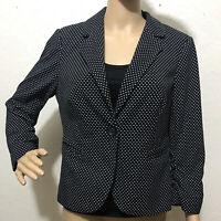 The Limited Black White  Polka Dot Career Blazer Jacket Women's Size M