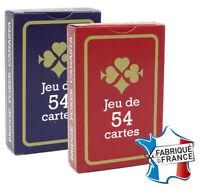 Lot de 2 Jeux de 54 Cartes France Carte poker rami bridge Gauloise Bleue rouge