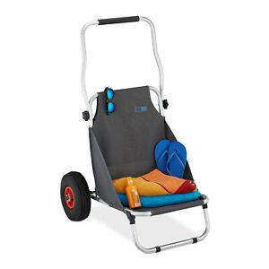 Carrellino da trasporto pieghevole sedia da spiaggia carico fino a 50 kg 2 ruote