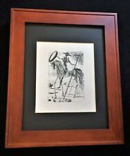 "SALVADOR DALI ""Don Quixote"" *Original Signed Etching (1960's) With COA."