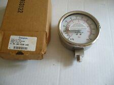 "Pressure Gauge, vac-100, 4"" Dial, 1/4"" NPT. Swagelok PGI-100C-PC100-LAOX"