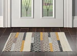 """1'9"""" x 2'10"""" loomBloom Handmade Braided PolyesterMat Area Rug Ivory Indoor"""