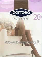 Pompea Autoreggenti vani 20den Balza Pizzo Siliconata 1/2 Mineral