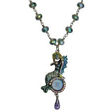 KIRKS FOLLY DREAMY MERMAID SEAVIEW MOON PENDANT NECKLACE  silvertone NEW RELEASE