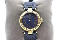 Dunhill Millenium Armbanduhr vergoldet blaues Ziffernblatt unisex  - sehr gut -