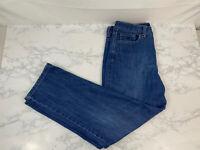 Women's Gloria Vanderbilt Amanda Straight Dark Faded Wash Blue Jeans Size 14 J1