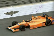 Fernando Alonso Genuine Indianapolis Indy 500 Photo dédicacée McLaren F1 Driver