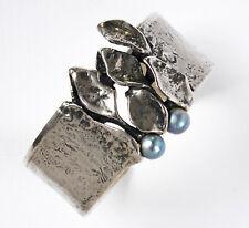 Perlenarmband echte Süsswasserperlen Armreif 17 cm Gummizugarmband per14