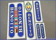 Vintage Style BENOTTO Rare Restoration Decals Flags Yellow ST Kit Stickers