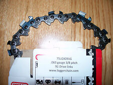 """1 28"""" Oregon chainsaw saw chain  3/8 .063 91 DL 75LGX091G replaces  36RS 91"""