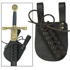 Pendragon Medieval Ebony Leather Knights Renaissance Sword Frog