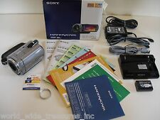 Sony DCR-SR62 30GB HDD Camcorder + Software Manual Dock AC USB Cable Battery Box