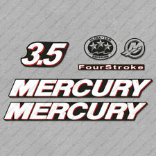 Mercury 3.5 hp Four Stroke outboard engine decals sticker set reproduction 3.5HP