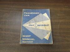 1962 CHEVROLET PASSENGER CAR SHOP MANUAL BOOK 418