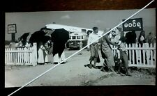 Vintage 1950s.Photo Wolfgang Suschitzky.Mandalay Airport Burma.Old Bus & Plane