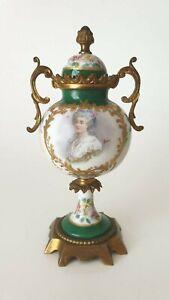 Superb Antique Sevres Style Lidded Vase signed & painted