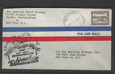 First Flight NEWFOUNDLAND to NEW YORK 1947 SLOGAN backstamp card encl.