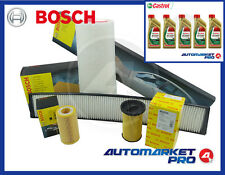 KIT FILTRI TAGLIANDO BOSCH BMW SERIE 3 E46 320D DIESEL + OLIO CASTROL 5W30