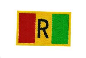 Patch ecusson brodé drapeau backpack rwanda ancien thermocollant