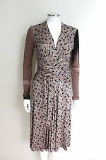 Issa Silk Duck Print Wrap Dress UK  8