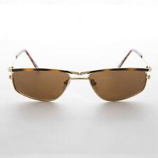 Americana Aviator Vintage Sunglass RX Optical Quality Tort Gold Brown Lens -Chip