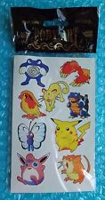 1999 Pokemon 1st Edition *BODY ART* Temporary Tattoos!