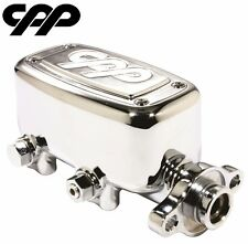 """CPP CHROME MCPV-1 MASTER CYLINDER FORD CHEVY STREET ROD 1"""" BORE"""