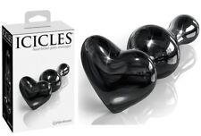 Plug en verre Noir Icicles N°74 - Gode Anal - Sextoy